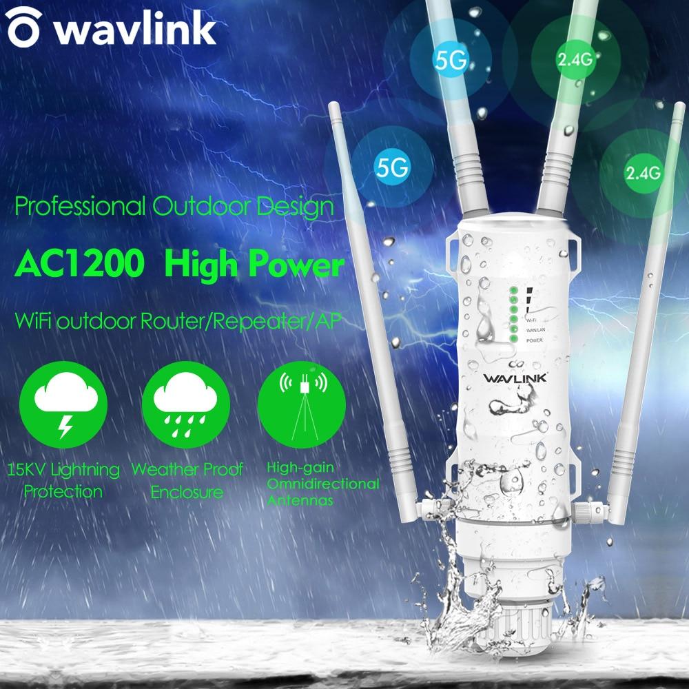 Wavlink AC1200 de alta potencia Wi-Fi punto de acceso para exterior/Repetidor/Router con...