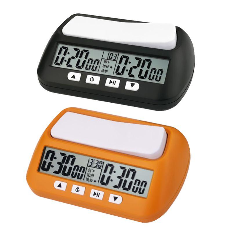 Profissional xadrez relógio digital contagem para baixo temporizador jogo de tabuleiro cronômetro novo