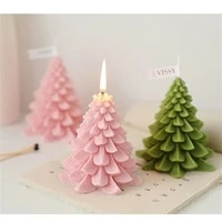 xmas tree shape gift set christmas decoration home decor wax scented soy candle
