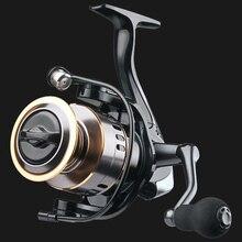 LINNHUE Alle Metall Angeln Reel HE1000 7000 Salzwasser Spinning Reel High Speed 5.2:1 Max Drag 10kg Reel Fishing Tackle Angelrollen    -
