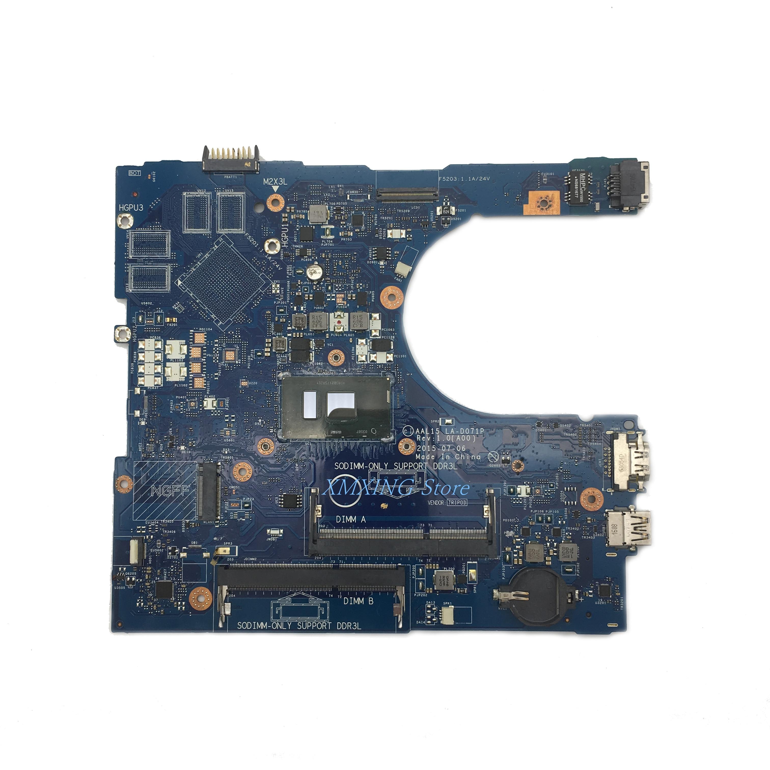 FULCOL لديل خط العرض 5559 اللوحة المحمول I5-6200U CPU AAL15 LA-D071P CN-0VYVP1 0VYVP1 VYVP1 اختبار 100% العمل