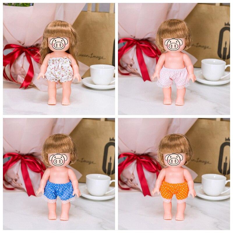 Mini sapatos meias calcinha para 25cm mellchan boneca 1/6 moda boneca diy artesanal acessórios para crianças presentes