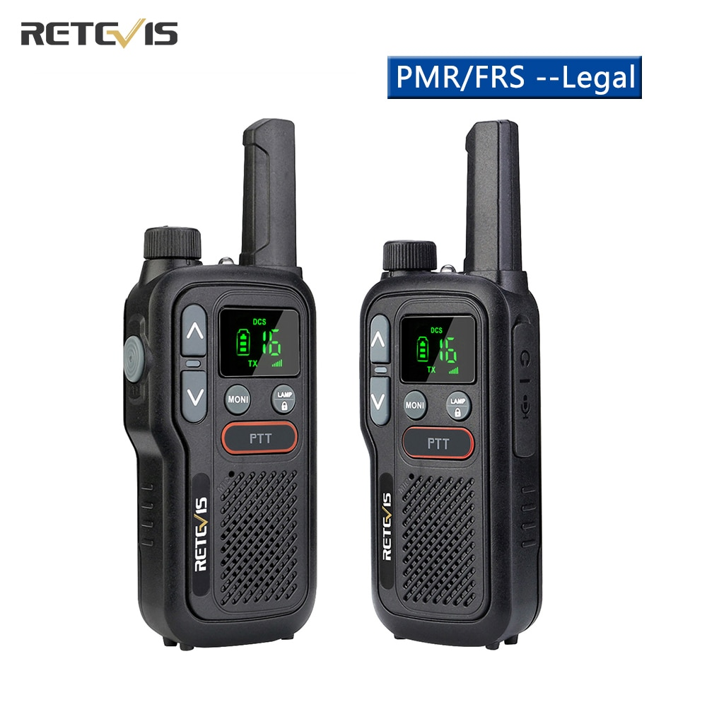 Retevis RB618 Mini Walkie Talkie Rechargeable Walkie-Talkies 1 or 2 pcs PTT PMR446 Long Range Portab