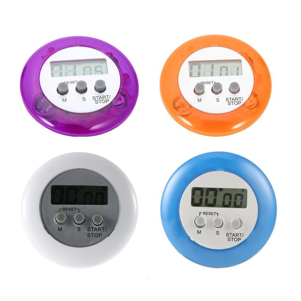 Lindo Mini contador Digital hogar cocina redondo LCD pantalla Cocina Digital cuenta atrás contador de temporizador Up alarma
