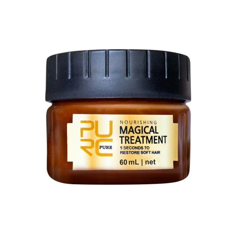 60ml Purc mascarilla de tratamiento mágico tipos de cabello queratina tratamiento del cuero cabelludo 5 segundos reparación daño restaurar cabello suave Dropshipping