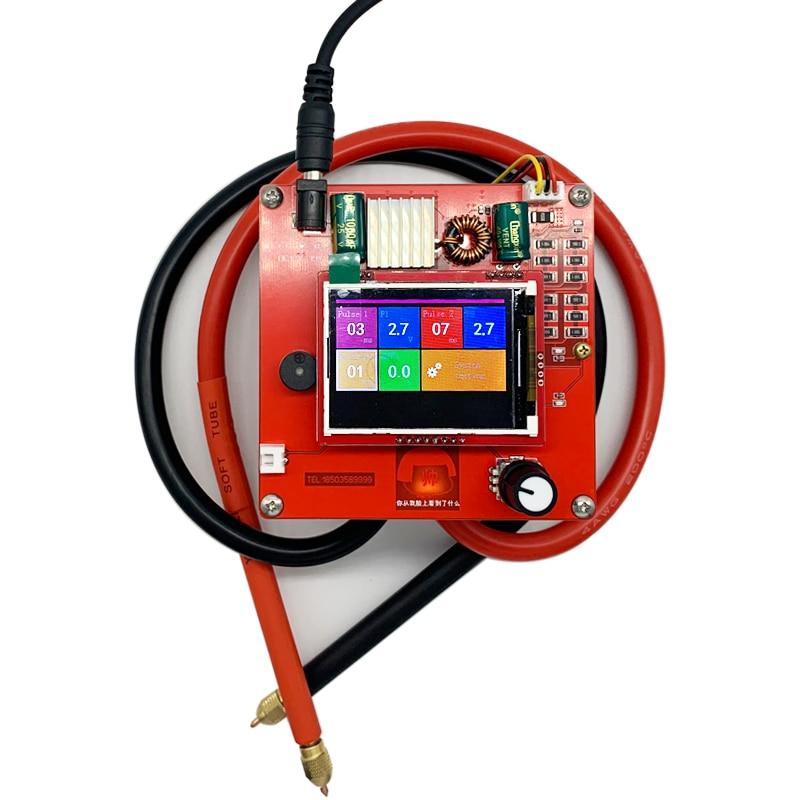 5.4V 400F Portable Spot Welder Equipment DIY LED Pulse Spot Welding Machine Set Semi-automatic Welder Tools 0.25mm 18650 Battery