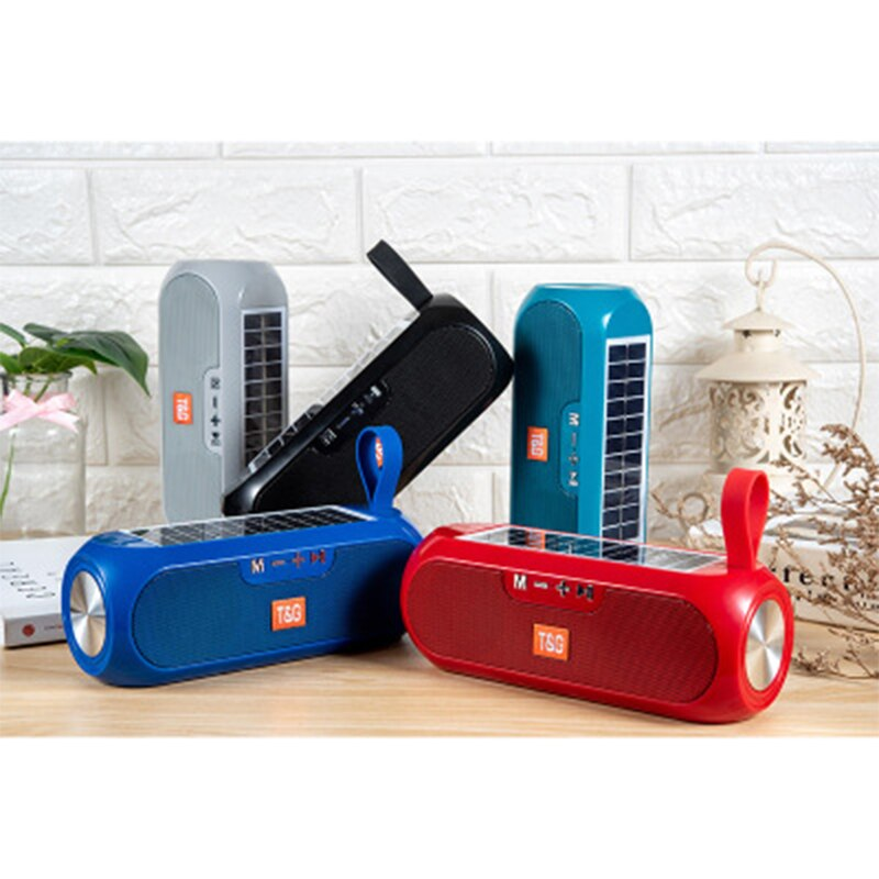 XIAONI 2021 Solar Charging Bluetooth Speaker Portable Column Wireless Stereo Music Box Loudspeaker Outdoor Waterproof Altavoces enlarge