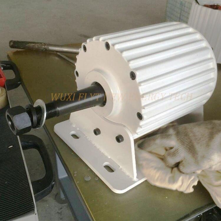 Generador de imán permanente 1kw ac 24v/48v/96v/110v con base/sin base baja RPM 50HZ trifásico