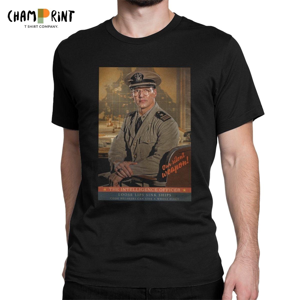Camiseta para hombre Midway el oficial de inteligencia novedad camiseta WW2 guerra de Historia Americana Camiseta cuello redondo camisetas cumpleaños presente