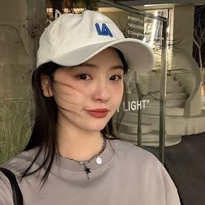 2021 New Hat Female Spring and Summer All-match Alphabet Baseball Cap Male Korean Version Soft Top Leisure Sunshade Cap Tide