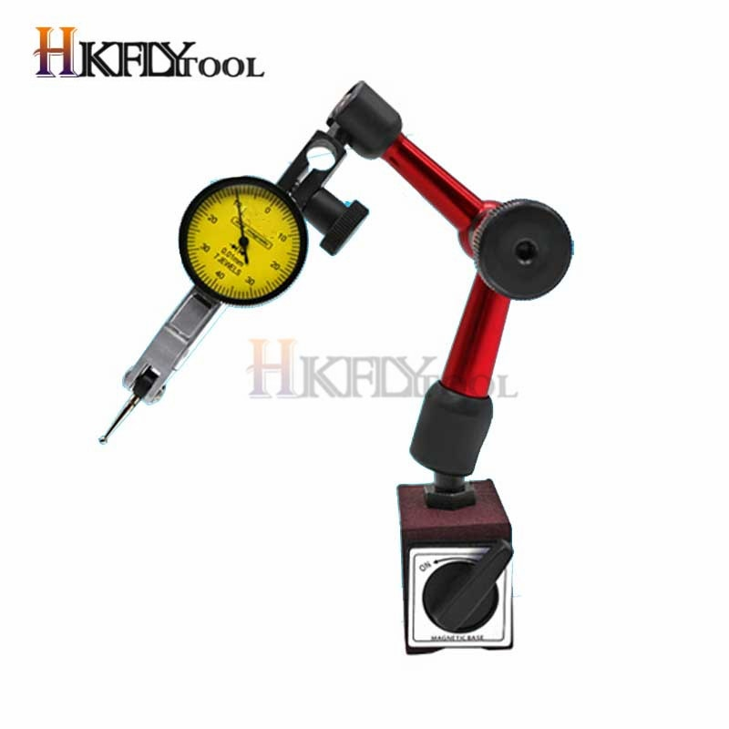 Indicador de nivel de 0 a 0,8mm, indicador de prueba de marcación de precisión, indicador de dial de 0 a 10mm, soporte de Base magnética Flexible Mini Universal