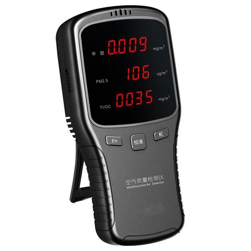Digital-Formaldehyde-PM2-5-HCHO-TVOC-Meter-Air-Quality-Gas-Detector-Monitor analisador doméstico pm1/2.5/10 detector com pm 2.5