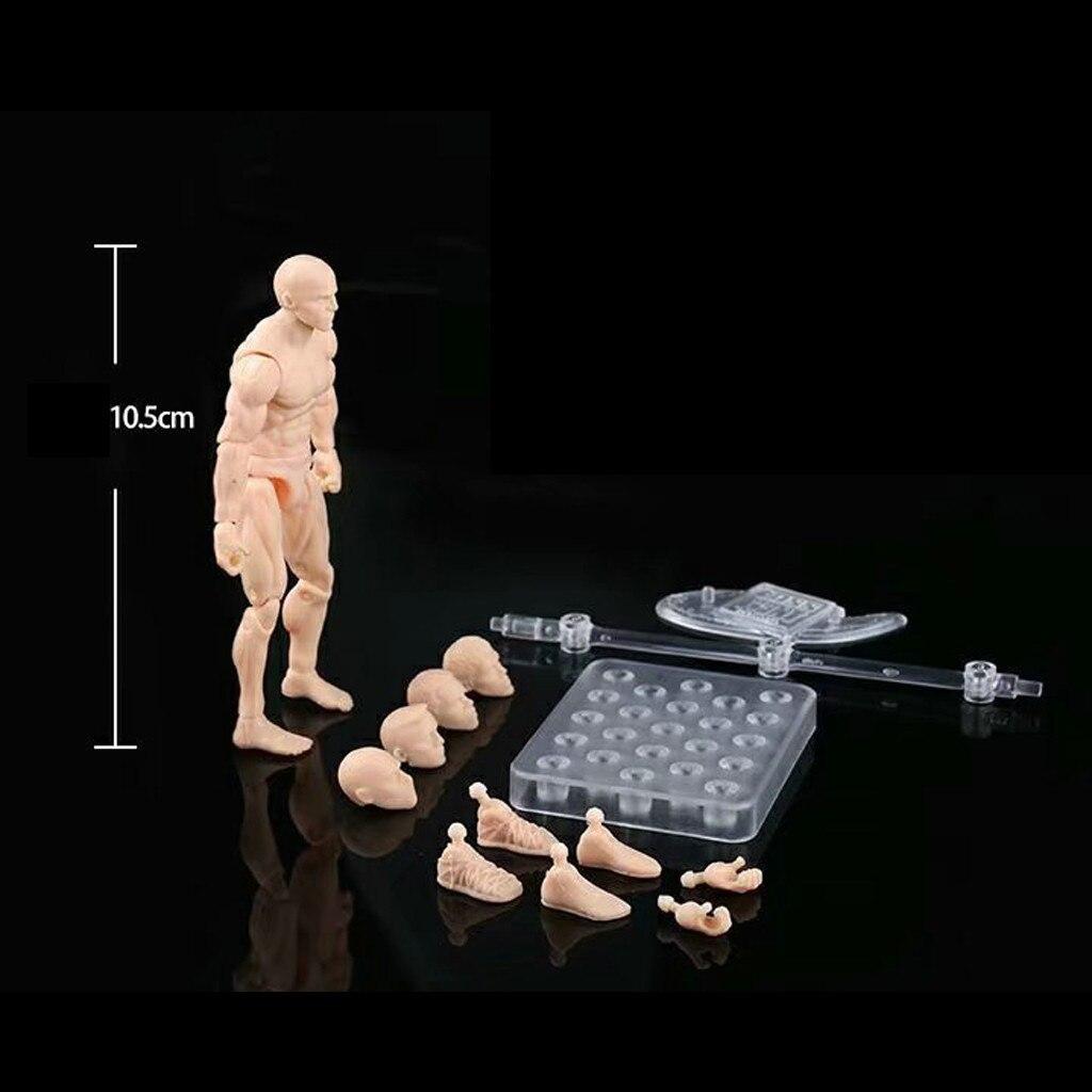 Figuras de acción de juguete de 13cm, cuerpo móvil, figura articulada masculina, modelo de figuras de PVC, maniquí, boceto bjd, dibujo de arte