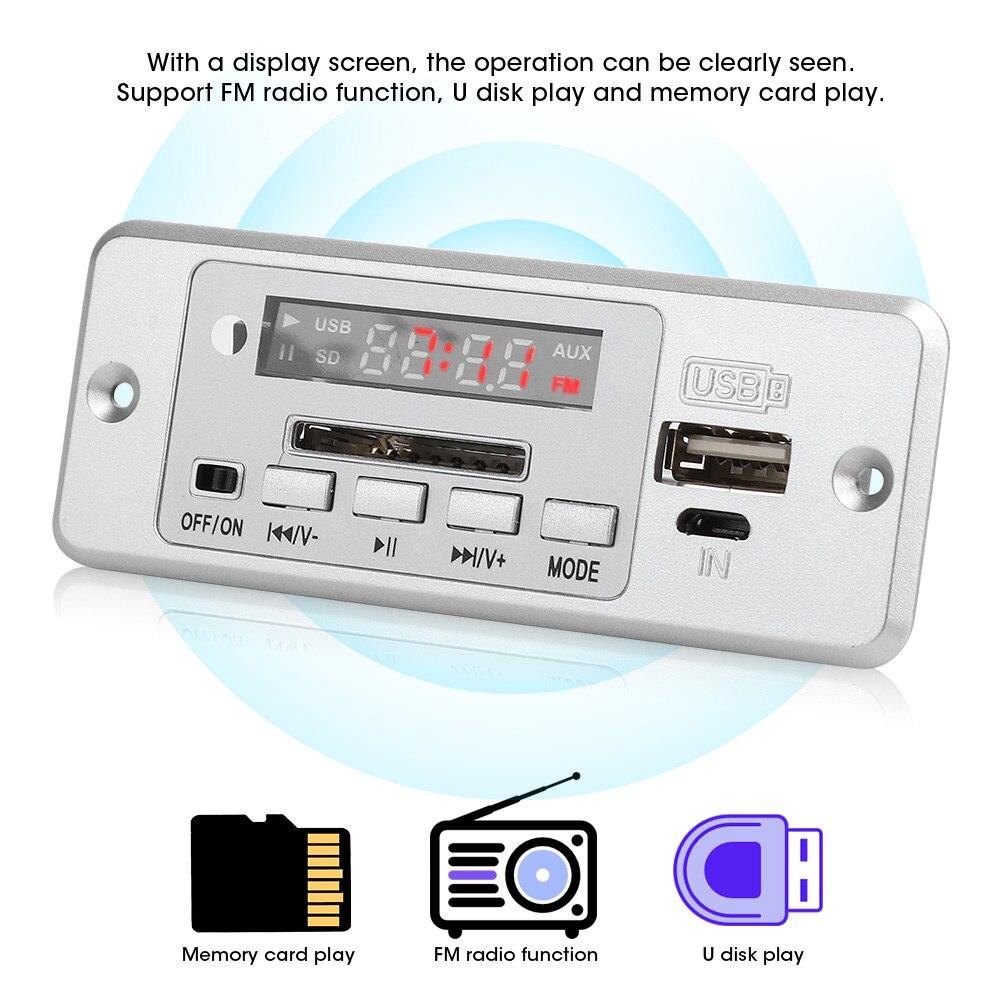 2*3W MP3 Audio Decoder Module MP3 Player Decoder Board 5V USB FM Radio Module MP3 Music Player With Power Amplifier enlarge