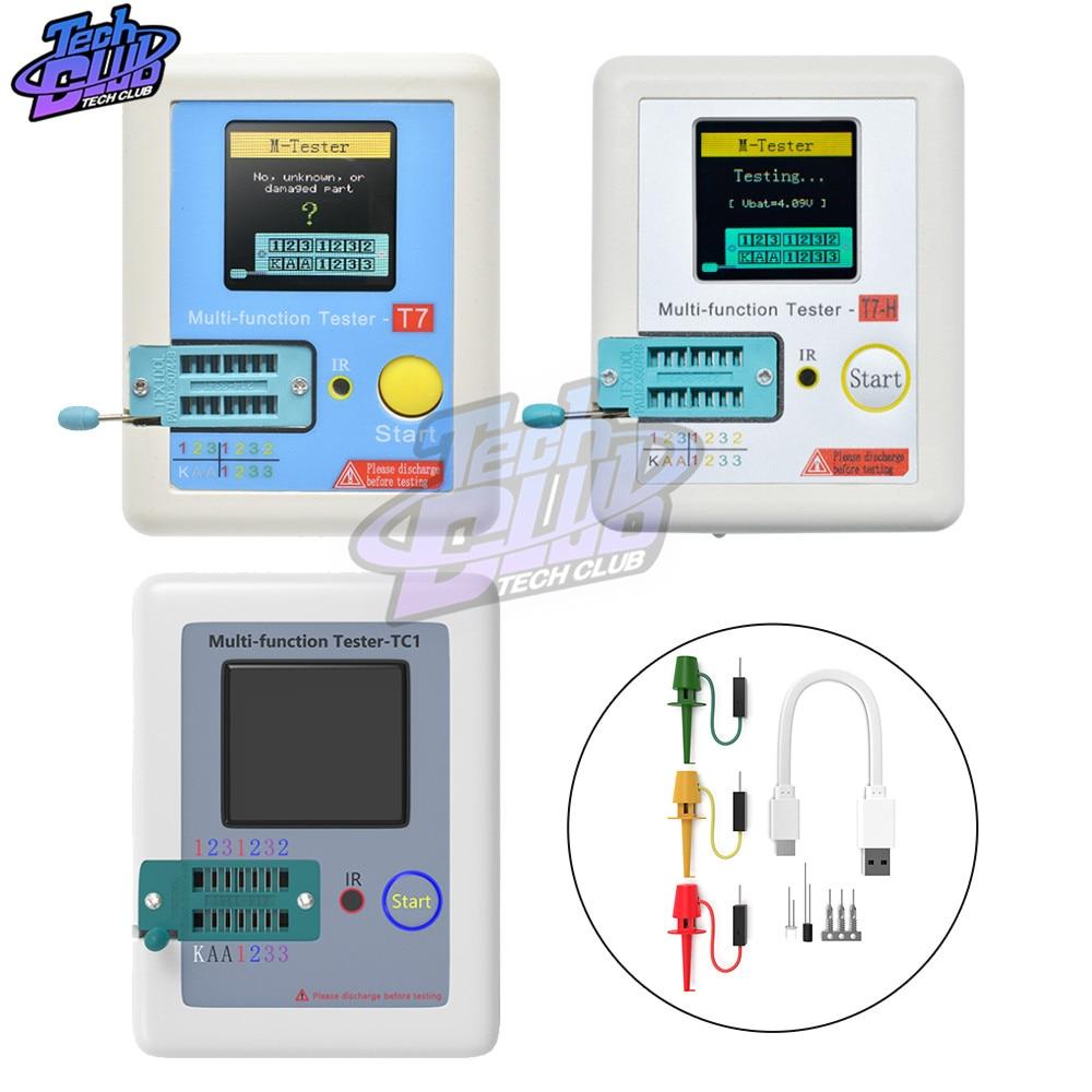 AliExpress - TC-T7-H TCR-T7 LCR-TC1 Transistor Tester Multimeter Diode Triode Capacitance Meter ESR LCR MOS/PNP/NPN FET IR Multifunction Test