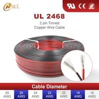 2-контактный медный провода кабель из луженой меди, изолированный ПВХ для автомобильного динамика, аудио кабель, панель солнечной батареи, м...