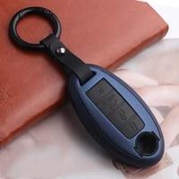 2020 silicon carbon fiber car key cover case for nissan qashqai j10 j11 x trail t31 t32 kicks tiida pathfinder murano note juke