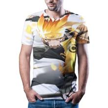 2020 new men's 3D anime, Naruto T-shirt, quick drying summer t-shirt t-shirt, short sleeved shirt