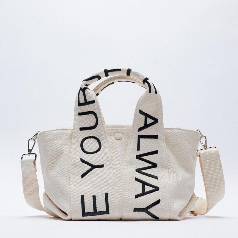 2021 Cotton Plaid Women's Bags Fashion Letters One-shoulder Messenger Handbag Ladies Bags
