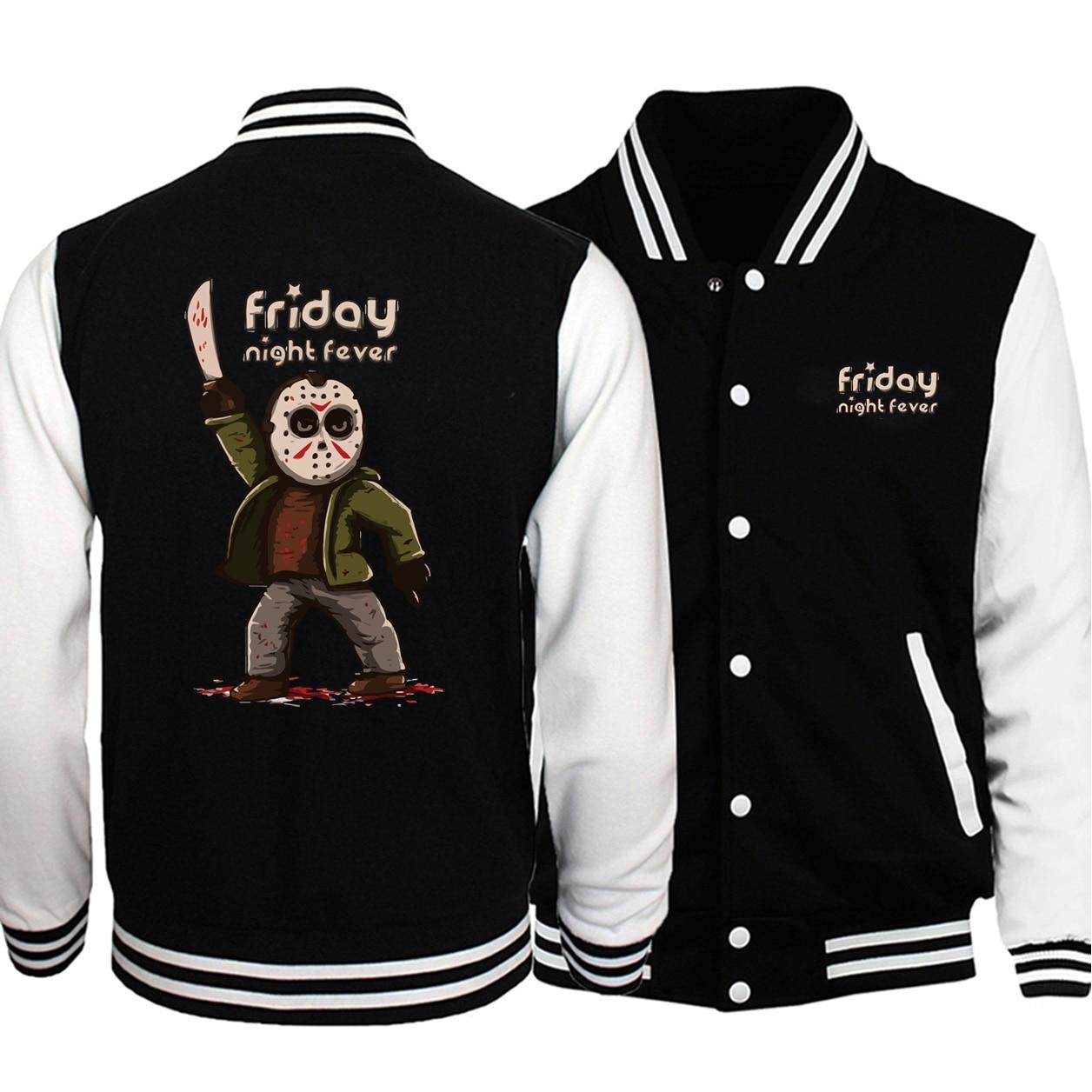 Horrorr Prison Friday 13 chaqueta de hombre 2019 Otoño Invierno chaquetas de béisbol hombres abrigo moda Hoodies hombres Fitness Sportwear