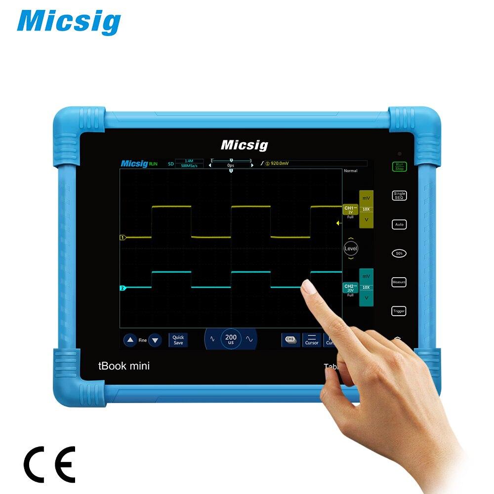 Osciloscopio para tableta Digital O138 micsign TO1102 2CH TO1104 4CH 100MHz 28Mpts 1GSa/s osciloscopio portátiles automotrices pantalla táctil