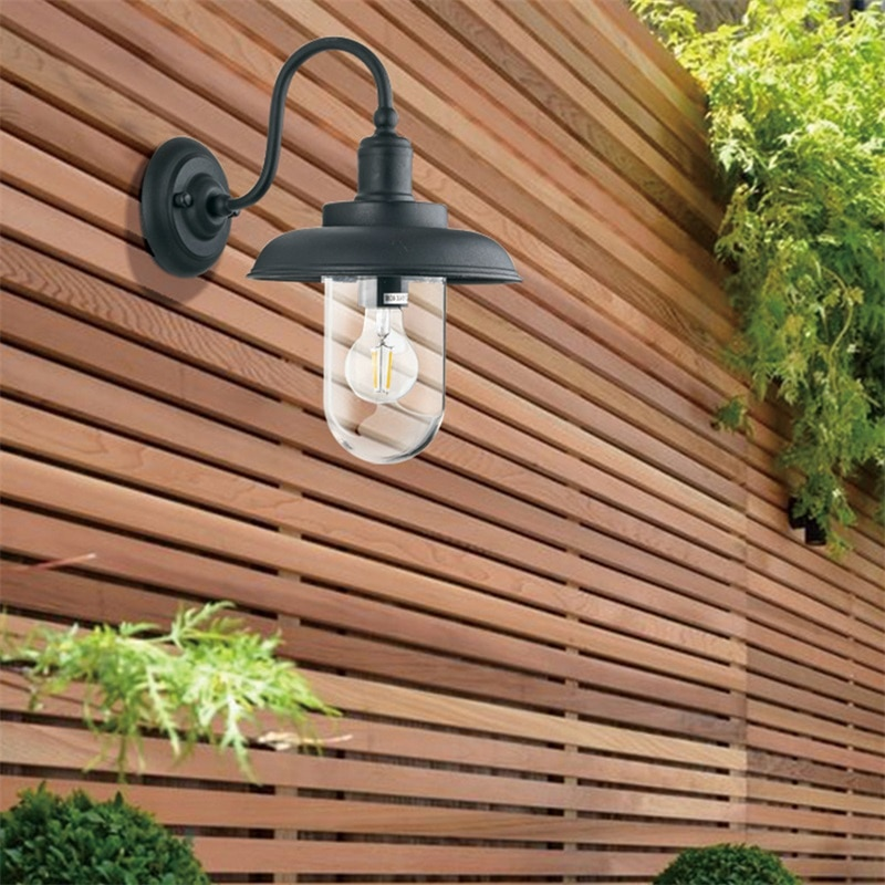 Hongcui Retro Outdoor Wall Lamps Classical LED Lighting Waterproof IP65 Sconces For Home Porch Villa enlarge
