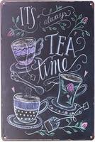 Sweet Time     affiche metallique en fer blanc  Plaque dart Vintage  decoration murale de cuisine et de maison