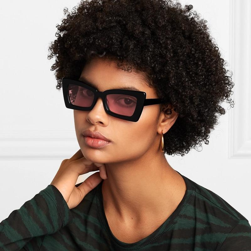 Square Frame Sunglasses For Women Luxury Brand Designer Oculos Lunette Gafas Street Eyewear Trends S