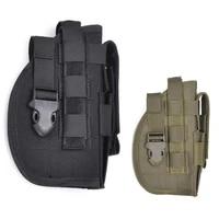 molle adjustable tactical holster belt holster pistol gun holster pouch with light pocket right handed for glock 17 19 22 23 31