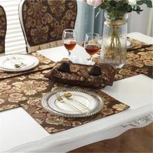 Retro Orchid European Luxury Customized Wedding Room Car Hotel Decorative Embroidery Tissue Box Napkin Holder Cover