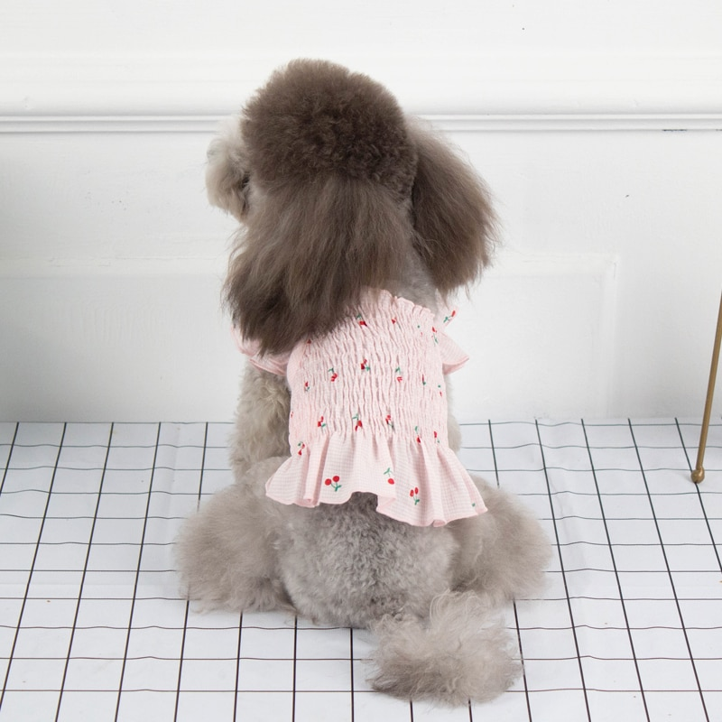 Summer Dog Dress Clothes Chiffon Dogs Outfit Skirt Cat Yorkshire Yorkie Doggy Doggie Puppy Chihuahua Clothing Small Pet Wearing  - buy with discount