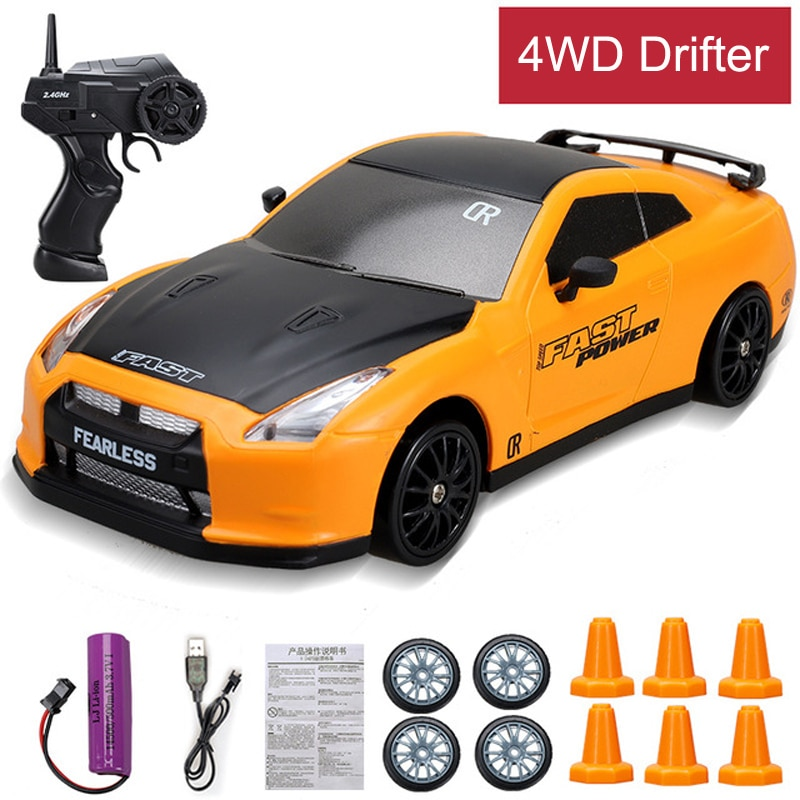 Powerful 4WD RC Drift car toy 2.4G rapid drifter racing car Remote Control GTR model AE86 F8 Vehicle car toys