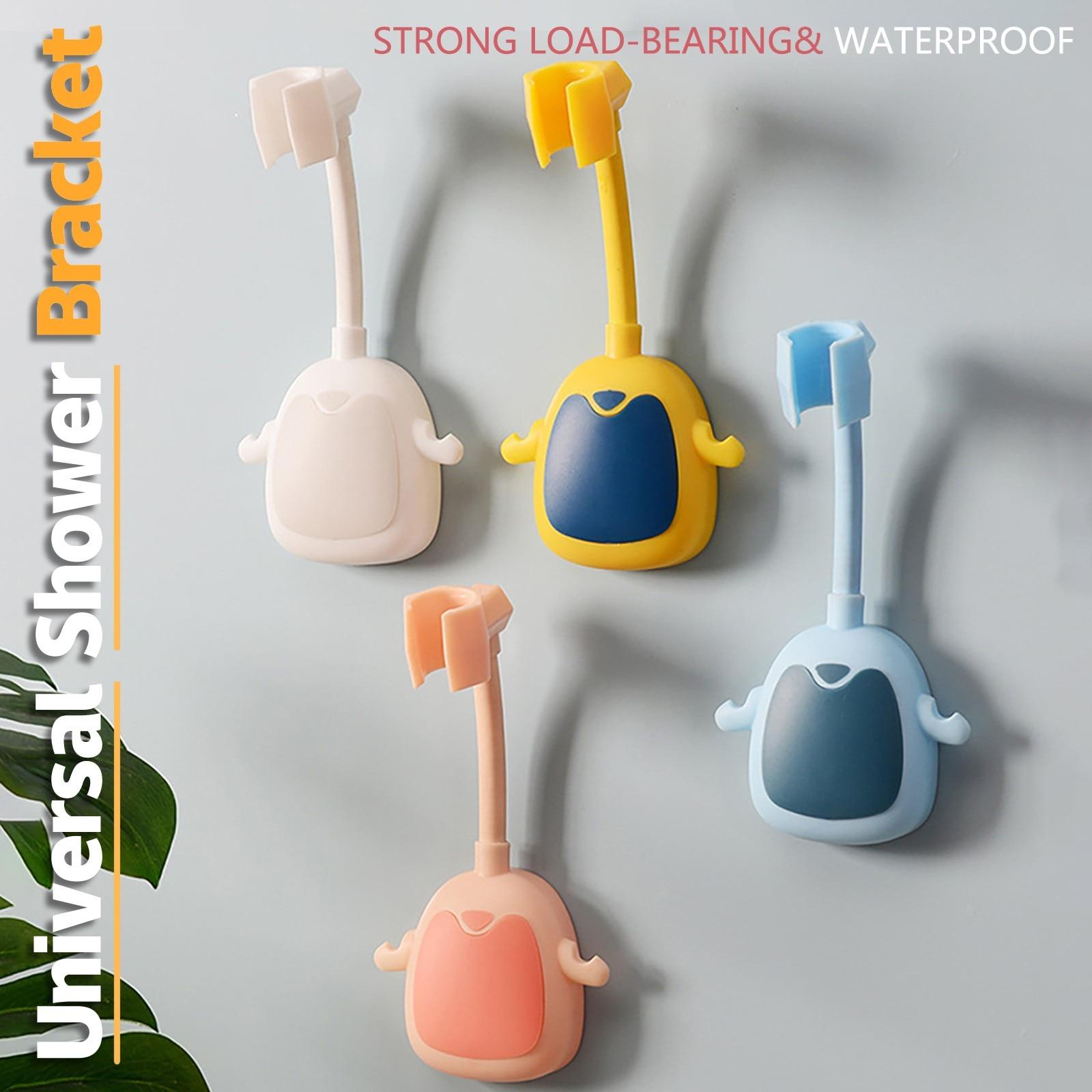 360° shower bracket adjustable self-adhesive shower bracket wall-mounted shower bracket with hook bracket SPA bathroom general недорого