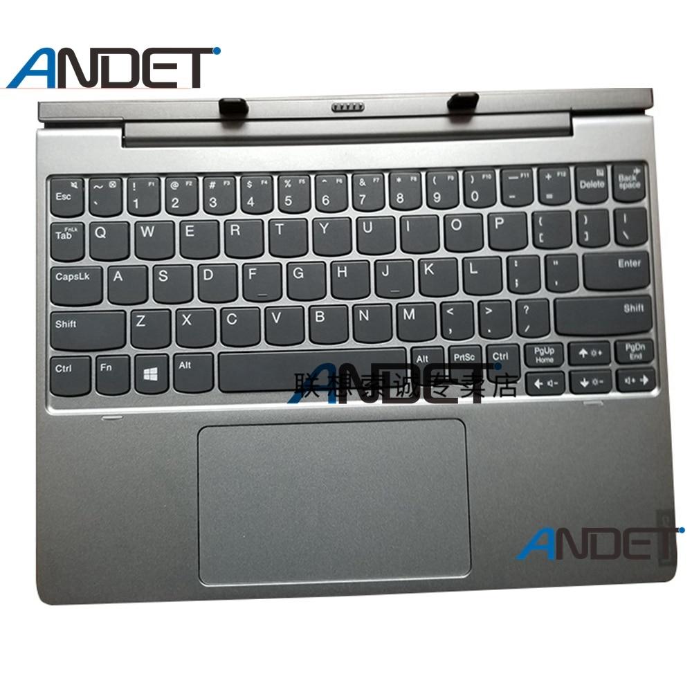 Neue Original Docking UNS tastatur für Lenovo 10,1 zoll Lenovo D330 D335 Backlit US Tastatur Palmrest Bottom Basis Abdeckung Touchpad