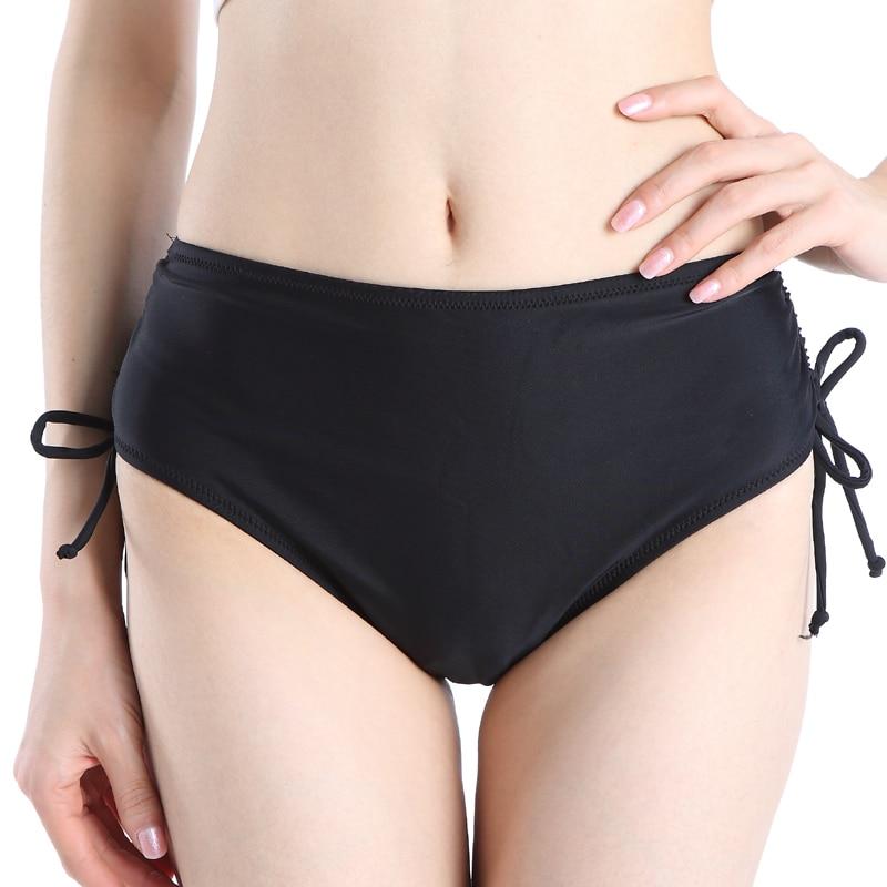 Black thong bikini Bottoms Swim Briefs Women Bikini Tanga Solid Bikinis Bottom Swimsuit parte de abajo