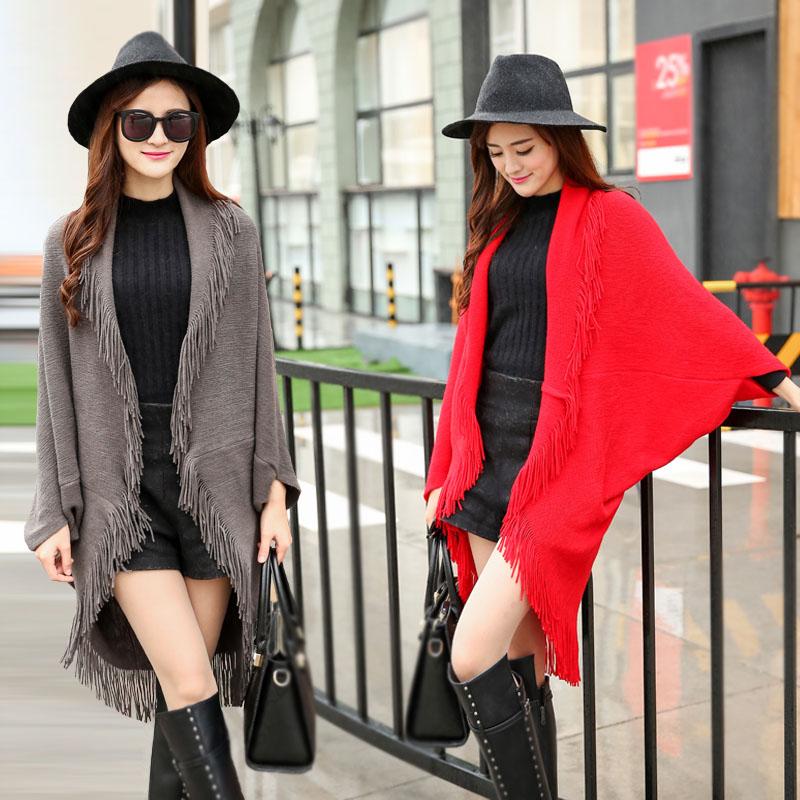 2020 nova camisola de manga comprida cardigan midi longo borlas malha xale jaqueta solta feminina irregular outwear topos oversize c87