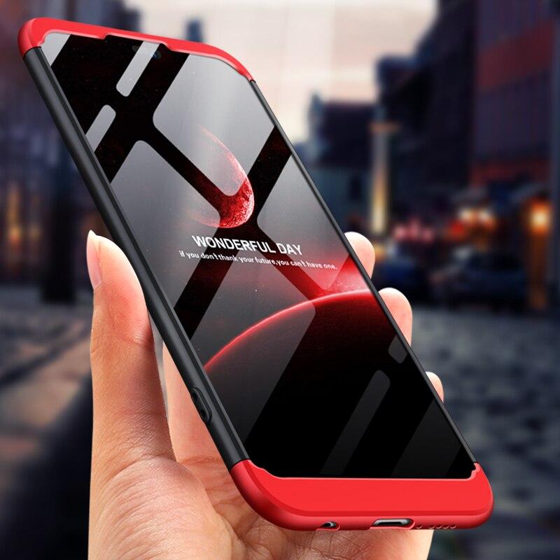 Huawei P20 Lite 2018 funda P20Lite 360 grados protegida funda de teléfono de cuerpo entero para Huawei P20 Lite e LX1 cubierta con película de vidrio