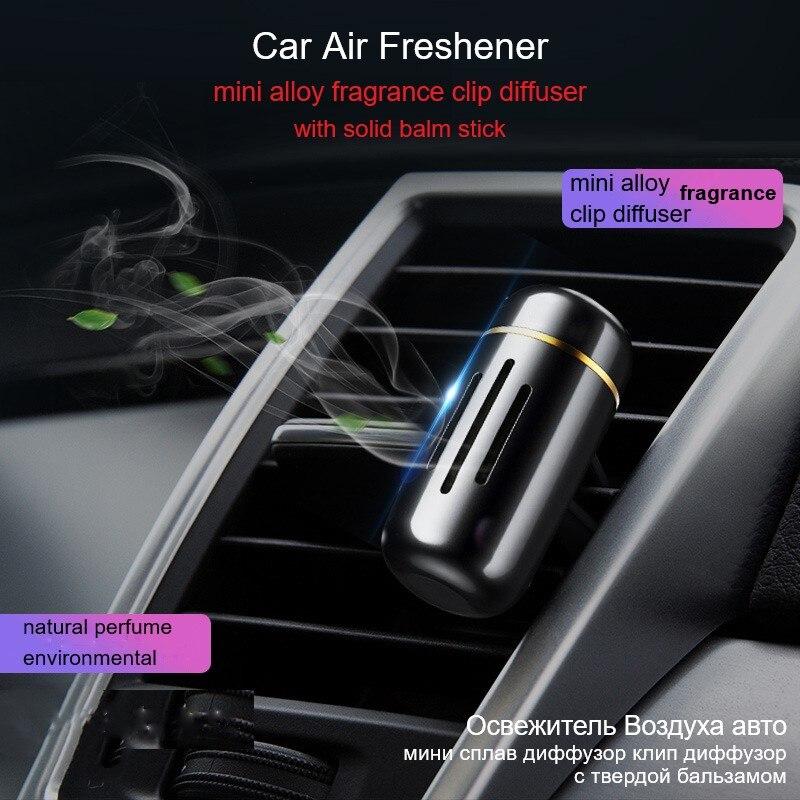 Baseusミニカプセル車の香水空気清浄固体アロマ車ベント吹出口清浄エアコンクリップディフューザー