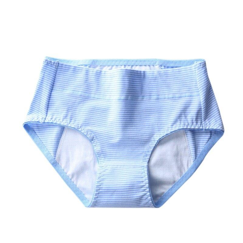 Ropa interior Menstrual para mujeres, bragas de algodón para adolescentes, bragas a prueba de fugas fisiológicas para mujeres, bragas a rayas femeninas