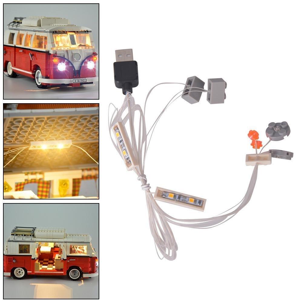 Montage LEGO lampe LED licht kit für LEGO/lepin Schaffen serie T1 camper vans kompatibel mit 10220 und 21001 spielzeug