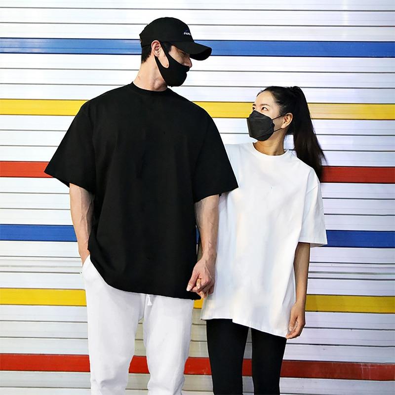 Men Running T Shirt Short Sleeved Men Women Summer Street Hip Hop Fashion T-shirt Plain Lovers Streetwear Tee Tops