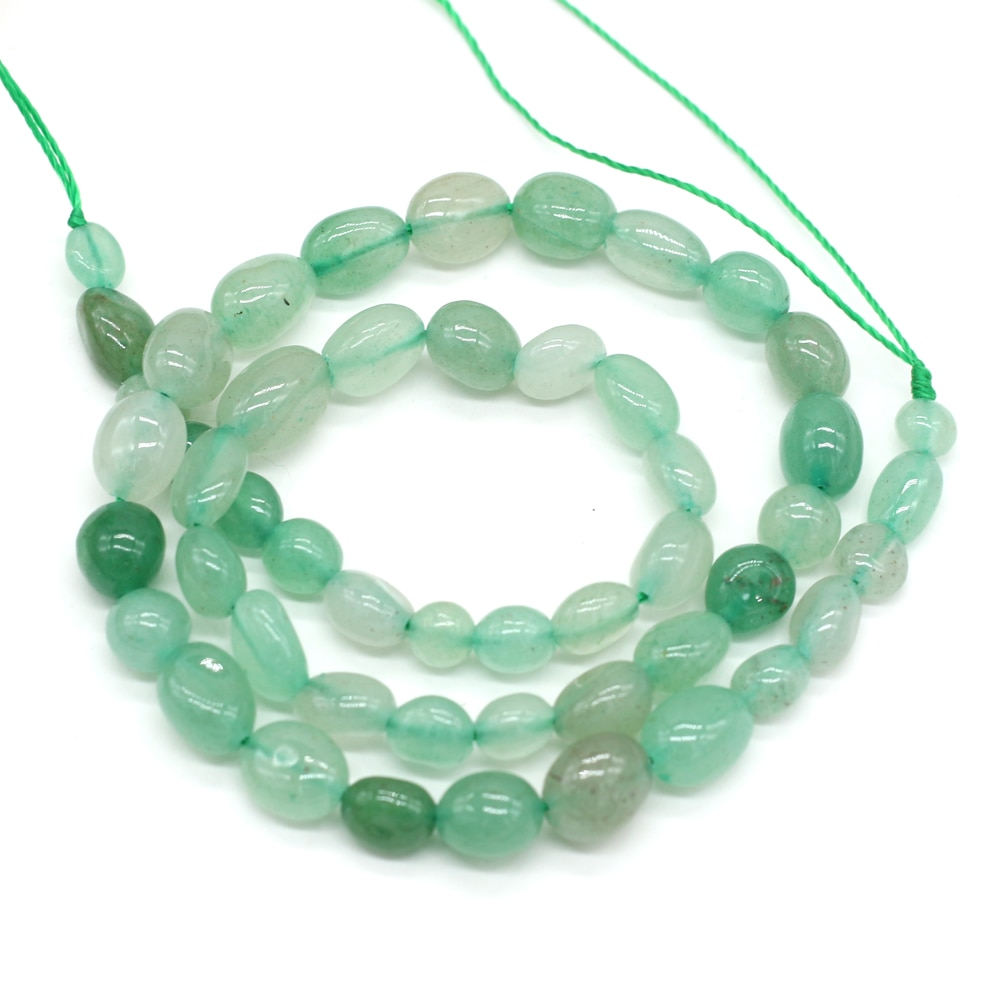 100% Natural Stone Beads 6-8mm Green Aventurines Loose Bead for Jewelry Making DIY Necklace Bracelet Crafts Accessories