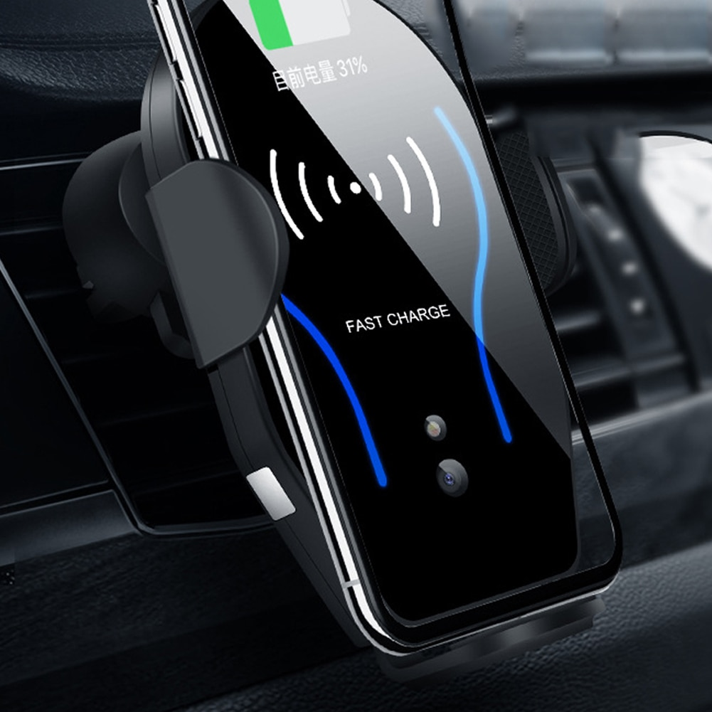 Car-borne Infrared Induction Wireless Telephone Charging Holder 10W Fast Charging Mobile Charger Bracket держатель hoco ca35 plus auto induction wireless fast charging in car phone holder black