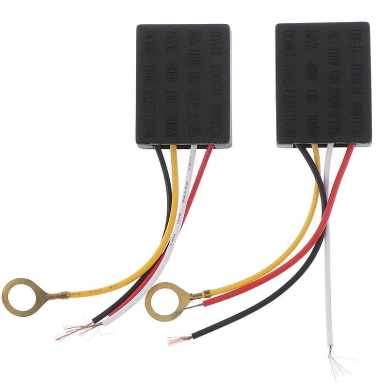 1 ud. Ca 100-240V 50Hz 1 vía 3 partes del cuadro eléctrico On Off interruptor del Sensor táctil Sensor de Control táctil regulador del Sensor para bombillas interruptor de la lámpara