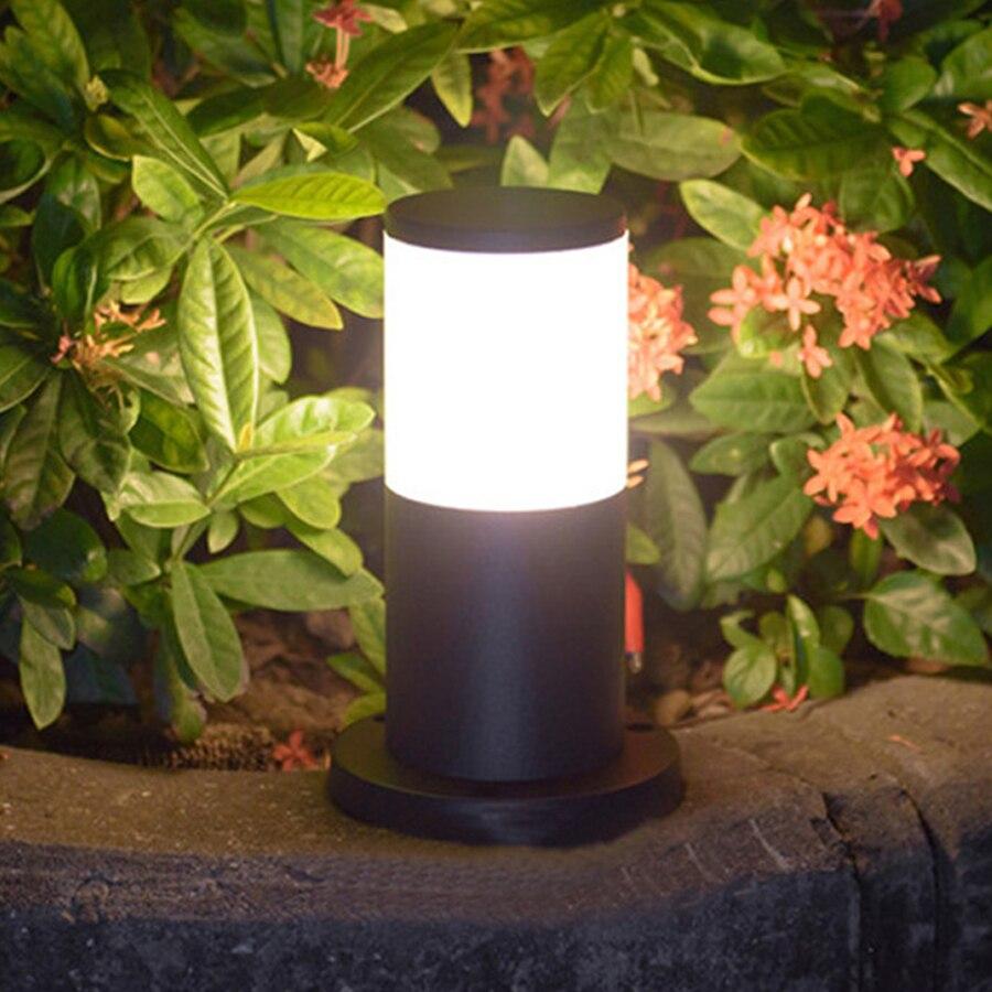 Thrisdar 25 سنتيمتر E27 9 واط في الهواء الطلق حديقة مسار مصباح حديقة مع زجاج Lampshde المشهد الحديقة مصباح العمود مسار فيلا عمود الإشارة الضوئية