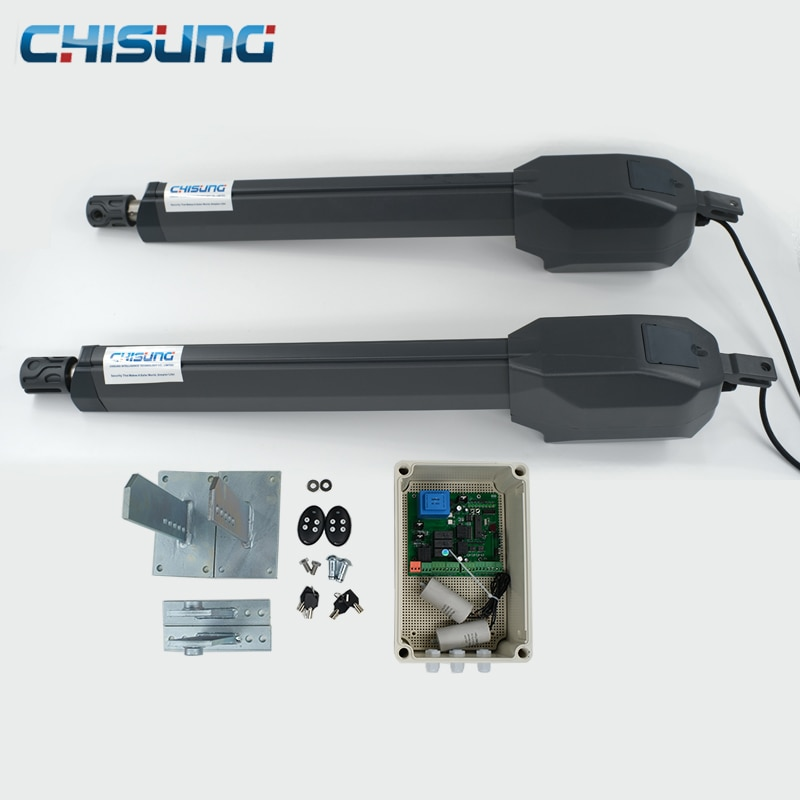 Operador de abridor de puerta eléctrico de doble brazo automático de 500KG con Motor de puerta y cierre de puerta abatible para control de acceso