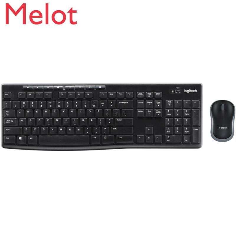 Mk275 ماوس لاسلكية مجموعة ماوس لاسلكية الوسائط المتعددة سطح المكتب لوحة مفاتيح وماوس