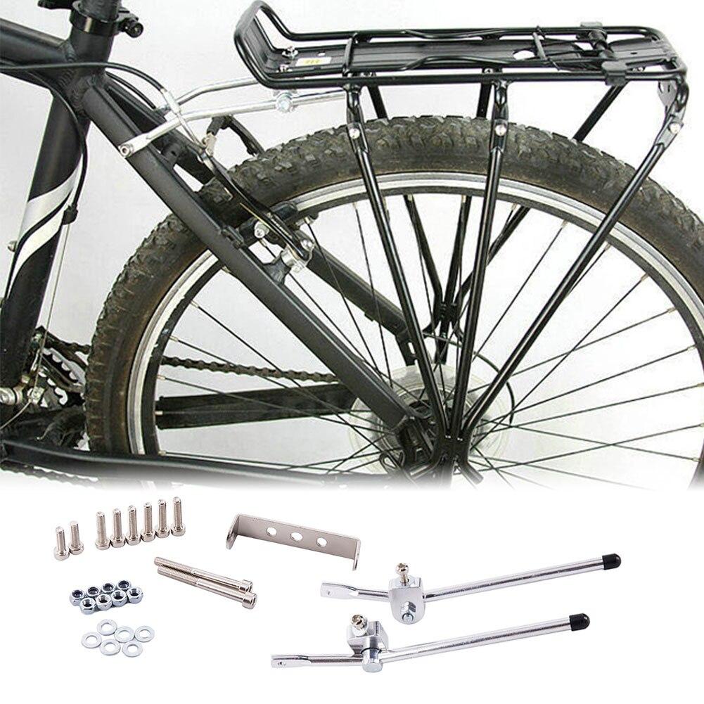 Cremalheira da bicicleta 25kg bblity liga de alumínio mountain bike acessórios rack traseiro carga bagagem transportadora