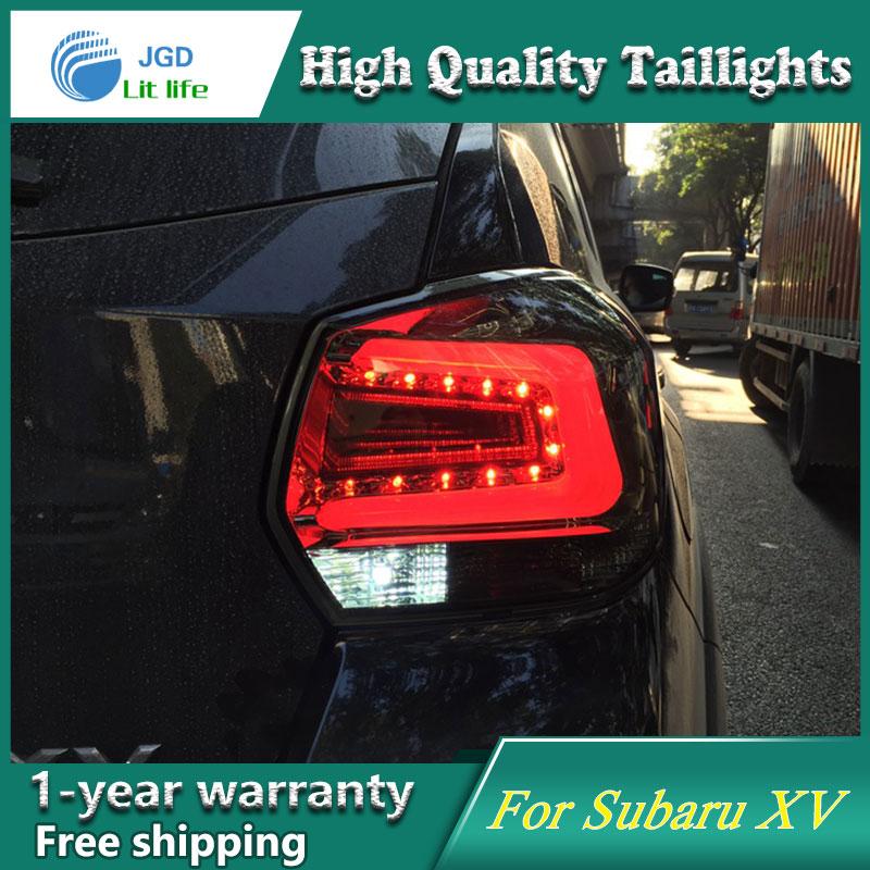 Car Styling Tail Lamp for Subaru XV taillights 2013-2016 Subaru XV Taillight LED Tail Light Rear Lamp LED DRL+Brake+Park+Signal