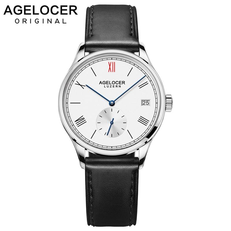 Agelocer brand women bracelet watch France leather ladies wrist watch separate design original watches Roman Numeral 36mm Dial